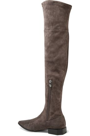 SIGERSON MORRISON Berry suede over-the-knee boots