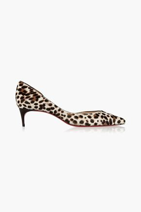 CHRISTIAN LOUBOUTIN Iriza 45 leopard-print calf hair pumps