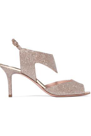 NICHOLAS KIRKWOOD Leda textured-lamé sandals