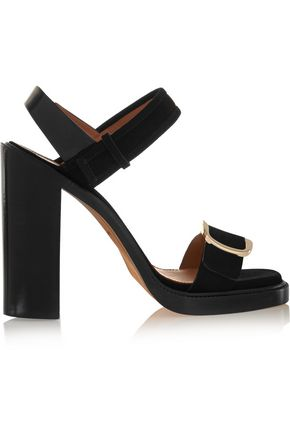 GIVENCHY Buckled sandal in black suede