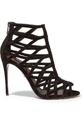 DOLCE & GABBANA Keira cutout suede sandals