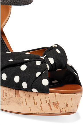 DOLCE & GABBANA Cady and raffia wedge sandals
