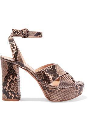 GIANVITO ROSSI Python platform sandals