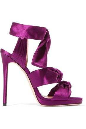 JIMMY CHOO LONDON Kris knottted satin sandals