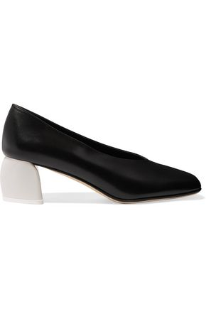 TIBI Gene leather pumps
