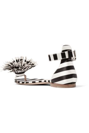 MONSE + Mariela Montiel striped duchesse-satin sandals