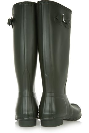 HUNTER Tall Wellington rubber rain boots