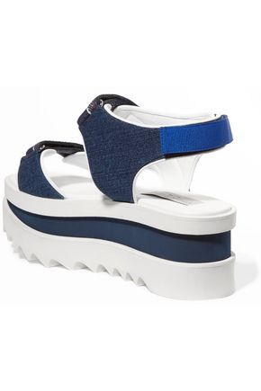 STELLA McCARTNEY Denim wedge sandals