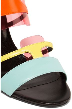 PIERRE HARDY PVC-trimmed leather sandals
