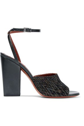 MISSONI Metallic crochet-knit sandals