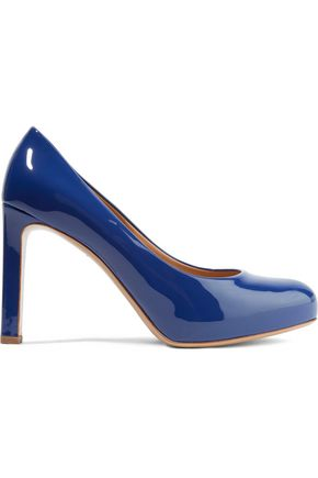 SALVATORE FERRAGAMO Leo patent-leather pumps