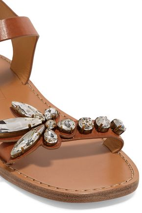 MARC JACOBS Rivington crystal-embellished leather sandals