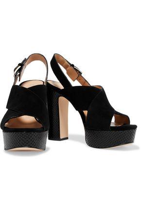MICHAEL MICHAEL KORS Mariana snake-effect and suede platform sandals