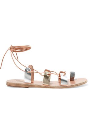 ANCIENT GREEK SANDALS Alcyone lace-up suede leather sandals