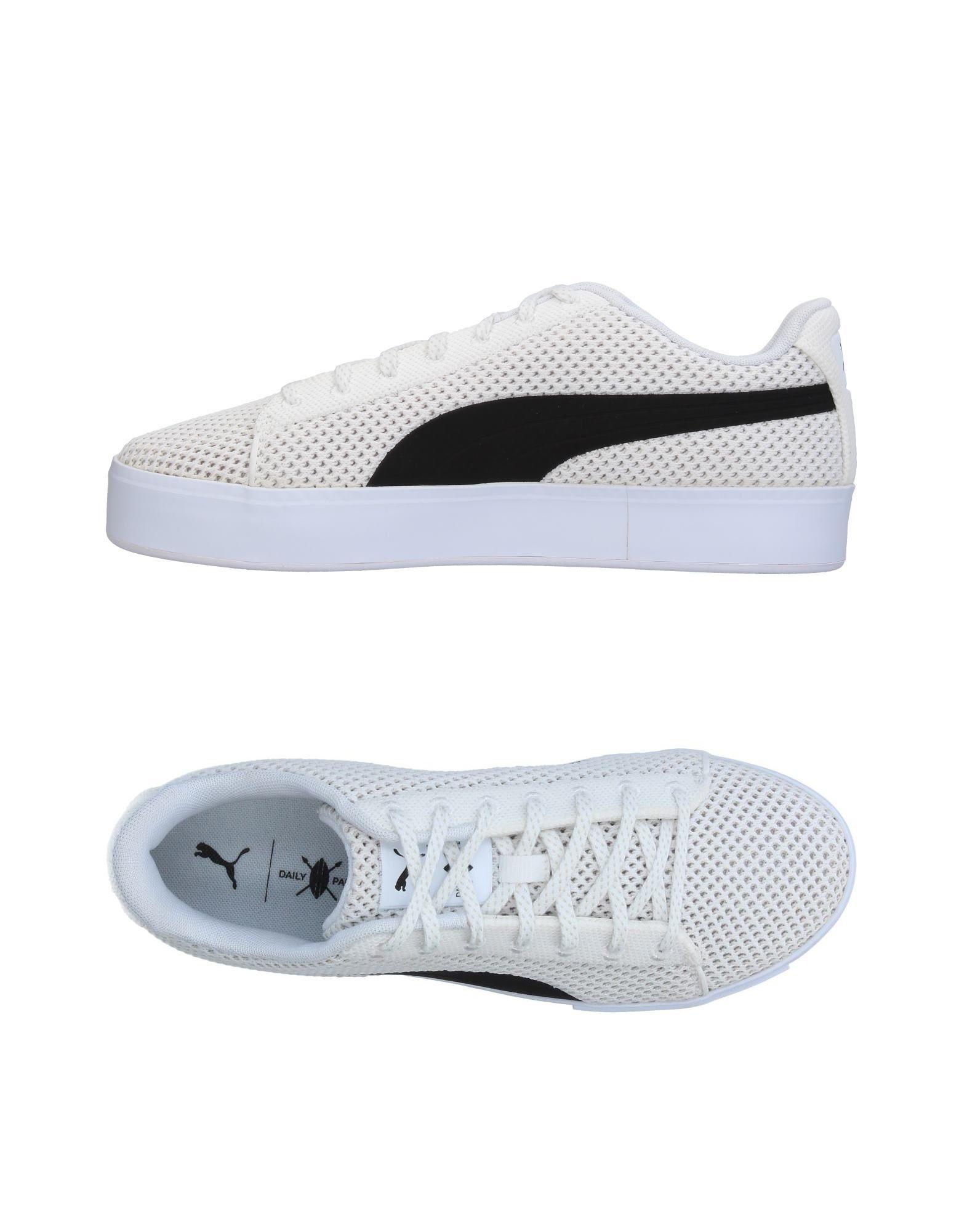 《送料無料》PUMA X DAILY PAPER メンズ スニーカー&テニスシューズ(ローカット) ホワイト 8 紡績繊維