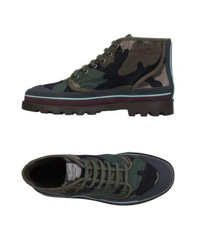 Купить Высокие кеды и кроссовки цвет зеленый-милитари