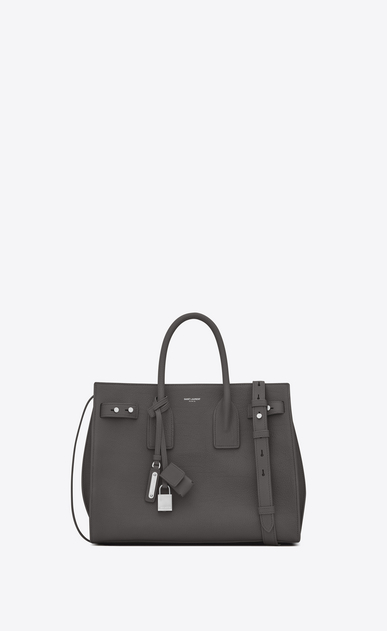 SAINT LAURENT Sac De Jour Supple D Small SAC DE JOUR SOUPLE in asphalt gray grained leather a_V4