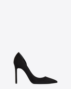 SAINT LAURENT Anja D ANJA 105 d'Orsay pump in black suede f