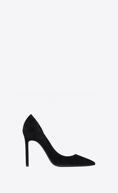 SAINT LAURENT Anja Woman ANJA 105 d'Orsay pump in black suede a_V4