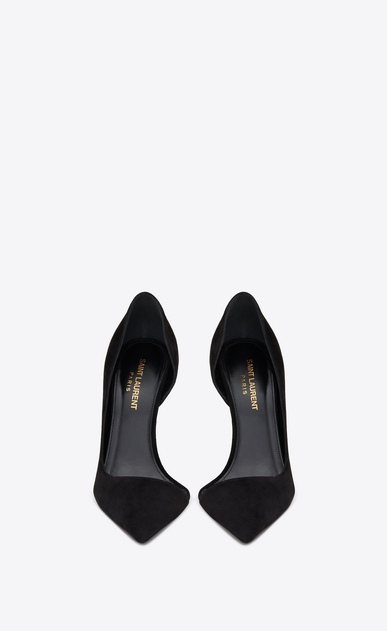 SAINT LAURENT Anja D ANJA 105 d'Orsay pump in black suede b_V4
