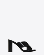 SAINT LAURENT Loulou D LOULOU 95 slipper in black patent leather f