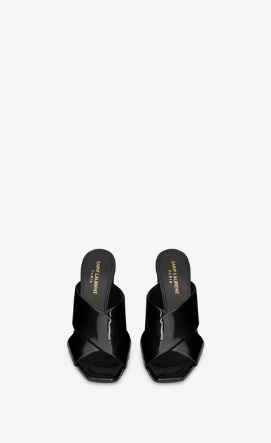 SAINT LAURENT Loulou D LOULOU 95 slipper in black patent leather b_V4