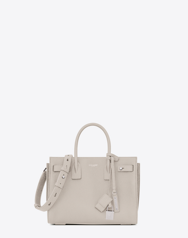 BABY SAC DE JOUR SOUPLE IN IVORY GRAINED LEATHER