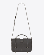 SAINT LAURENT Charlotte D Large CHARLOTTE pouch in asphalt gray leather f