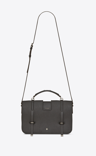 SAINT LAURENT Charlotte D Large CHARLOTTE pouch in asphalt gray leather a_V4