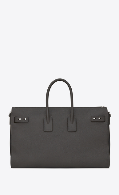 SAINT LAURENT Sac De Jour Supple Woman sac de jour souple duffle 36h bag in asphalt gray grained leather b_V4