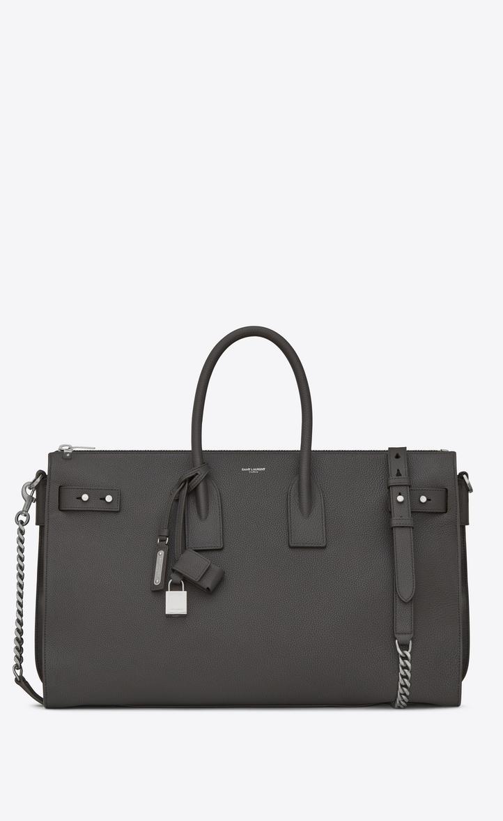 7d6091f43c Saint Laurent Sac De Jour Souple Duffle 36h Bag In Asphalt Gray ...