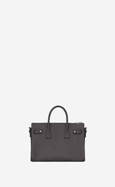 SAINT LAURENT Sac De Jour Supple Woman Baby SAC DE JOUR SOUPLE duffle bag in asphalt gray grained leather b_V4