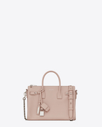 SAINT LAURENT Sac De Jour Supple D Baby SAC DE JOUR SOUPLE duffle bag in pink grained leather f