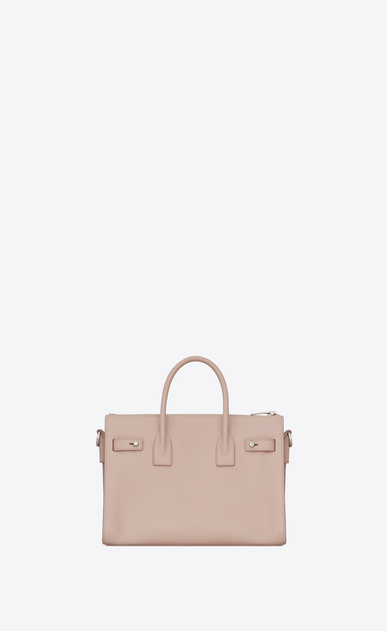 SAINT LAURENT Sac De Jour Supple D Baby SAC DE JOUR SOUPLE duffle bag in pink grained leather b_V4