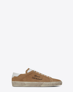 SAINT LAURENT SL/06 D COURT CLASSIC SL/06 sneakers in sand-colored suede f
