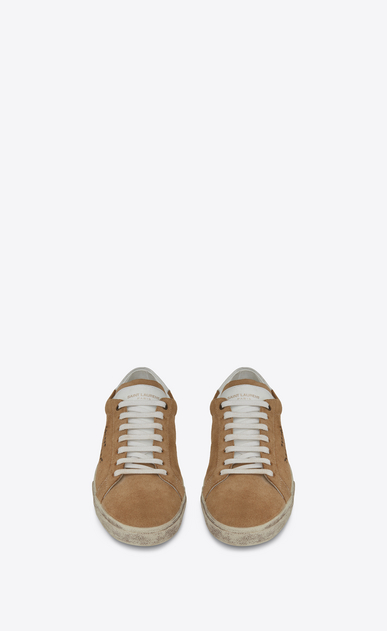 SAINT LAURENT SL/06 Woman COURT CLASSIC SL/06 sneakers in sand-colored suede b_V4