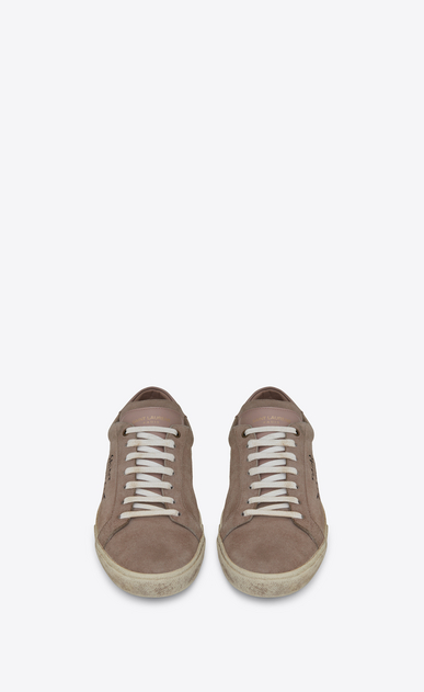 SAINT LAURENT SL/06 Damen court sl/06 sneakers aus altrosafarbenem velours b_V4