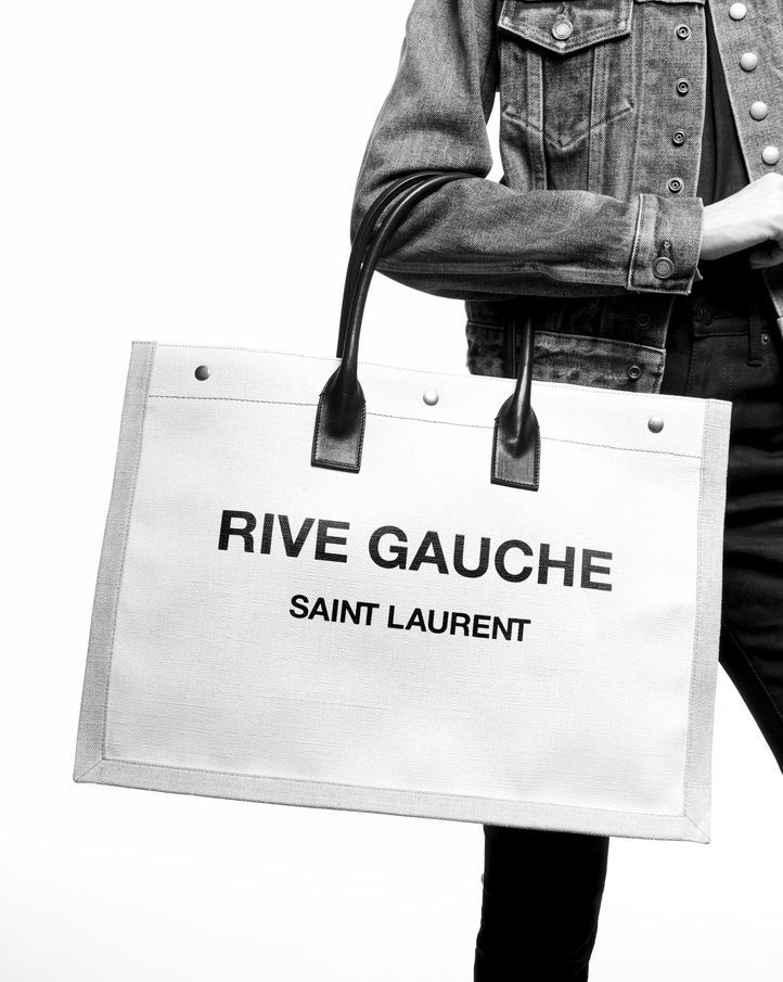 Black Text Tote Saint Laurent