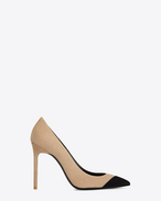 SAINT LAURENT Anja D ANJA 105 pump in beige and black suede f