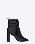 SAINT LAURENT Loulou D LOULOU 95 ankle boots in black moroder leather f