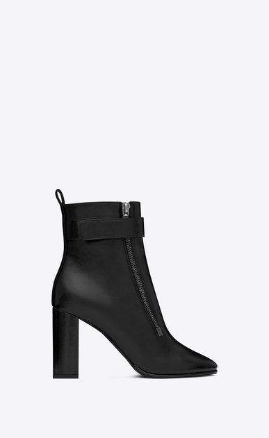 SAINT LAURENT Loulou Woman LOULOU 95 ankle boots in black moroder leather a_V4