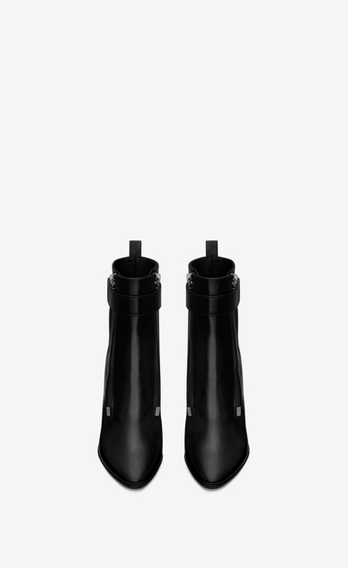 SAINT LAURENT Loulou D LOULOU 95 ankle boots in black moroder leather b_V4