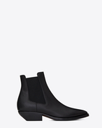 SAINT LAURENT Flat Booties D THEO 45 Chelsea ankle boot in black leather f