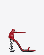 SAINT LAURENT YSL heels D OPYUM 110 sandals in red patent leather and black metal f