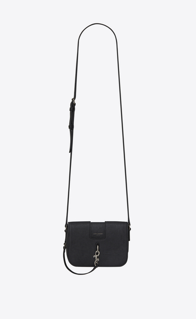 SAINT LAURENT Charlotte D CHARLOTTE Toy bag in black leather a_V4