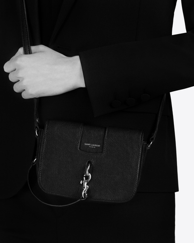 SAINT LAURENT Mini bags Charlotte Woman CHARLOTTE Toy bag in black leather y_V4