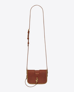 SAINT LAURENT Charlotte D CHARLOTTE Toy bag in vintage cognac leather with plaited edges f