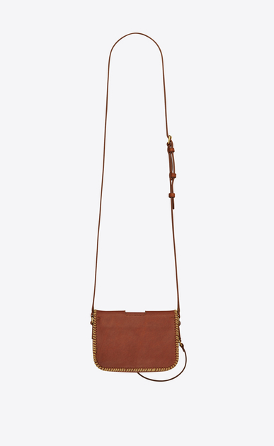 SAINT LAURENT Charlotte D CHARLOTTE Toy bag in vintage cognac leather with plaited edges b_V4