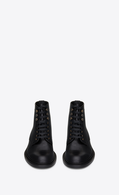 SAINT LAURENT Flat Booties D ARMY 25 ankle boot in black leather b_V4