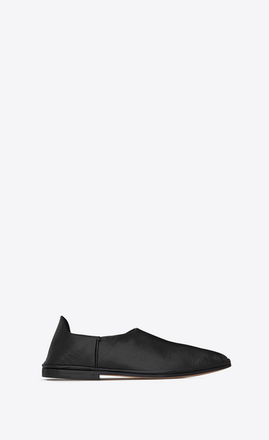 SAINT LAURENT Classic Masculine Shapes Woman FES convertible slipper in black leather b_V4